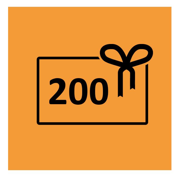 € 200,- Gutschein